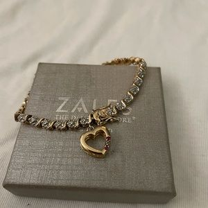 Gold and Ruby tennis bracelet